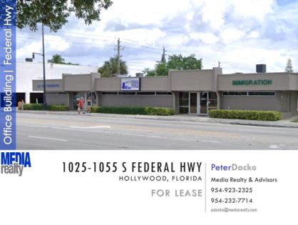 FOR LEASE 1250-2500 SF | SOUTH FEDERAL HIGHWAY | HOLLYWOOD