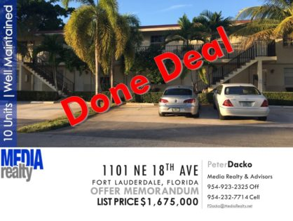 Done Deal | Lake Ridge 10 Unit Apt Bldg | Fort Lauderdale | Excellent Condition