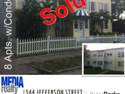 Done Deal | 8Plex | Hollywood | 1544 Jefferson St | East of US-1