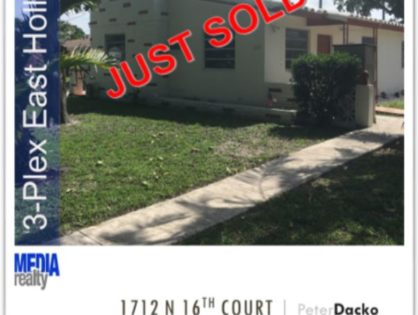 Done Deal | 3Plex | Hollywood | 1712 N 16 Ct | East of US-1