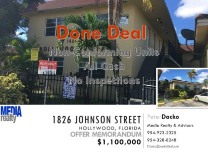 Done Deal | 12Plex | Hollywood | 1826 Johnson St | Value Add Transaction