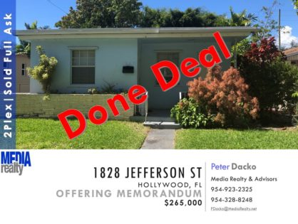 Done Deal | 2Plex | Hollywood | 1828 Jefferson St