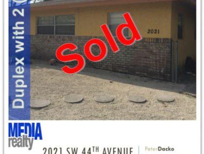 Done Deal | 2Plex | Fort Lauderdale | 2021 SW 44 Ave