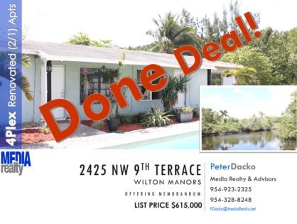 Done Deal | 4Plex | Wilton Manors | Pool & Waterfront Property