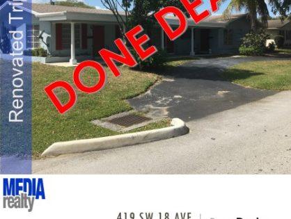 Done Deal | 3Plex | Fort Lauderdale | 419 SW 18 Ave