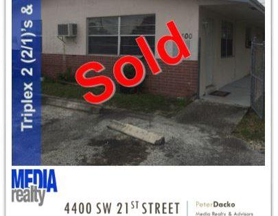 Done Deal   3Plex   Fort Lauderdale   4400 SW  21 St