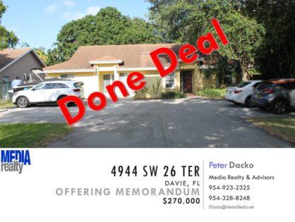 Done Deal   Dania   1/2 Duplex