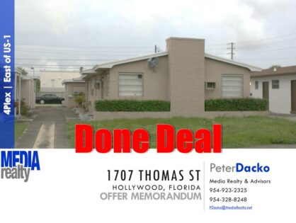 Done Deal | 4 Plex | East of Federal Hwy