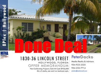 Done Deal | 8Plex | Well Maintained | E Hollywood | 1830-36 Lincoln Street