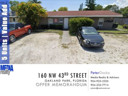 5-Plex | Value Add | Oakland Park | 160 NW 43 Street