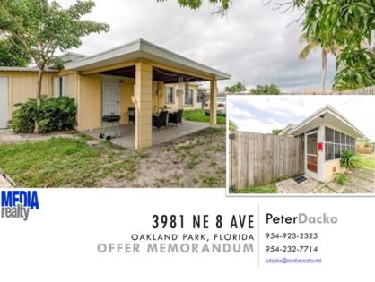 3981 NE 8 Ave | 4Plex | Renovated | Oakland Park | 8%+ ROI