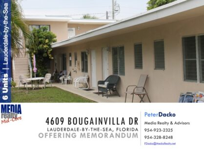 6 plex in Charming Lauderdale by the Sea | Close to Beach | 4609 Bougainvilla Dr