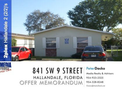 Priced Right, Well Maintained, Hallandale 2plex | Located in the SW Corridor | 841 SW 9 St