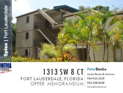 Boutique Mid-Core 5plex in Riverside Park Fort Lauderdale | 1313 SW 8th Ct