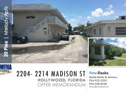 Melody Apts | 20 units | Hollywood Florida